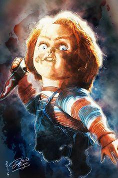 'Hi, I'm Chucky! Wanna Play?' by DenisDlugas.deviantart.com on @DeviantArt