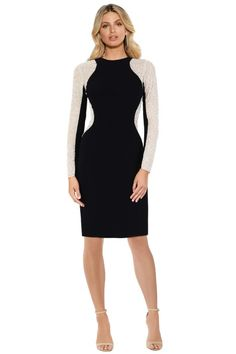 Hire Montique - Celeste Knit and Mesh Dress for a fraction of the retail price for an upcoming night out. Dress Hire, Mesh Dress, Night Out, High Neck Dress, Dresses For Work, Knitting, Fashion, Turtleneck Dress, Moda