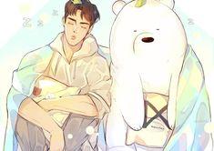 Fotoğraf açıklaması yok. K Pop, We Bare Bears Wallpapers, X Picture, Young K, Monsta X Shownu, We Bear, Bear Wallpaper, Guy Drawing, Bear Art