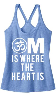 OM is Where the Heart is YOGA Tank Top Charcoal Heather