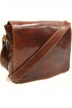 Italian leather messenger bag / briefcase