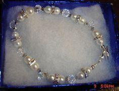 Crystal & Fresh Water Pearl Bracelet