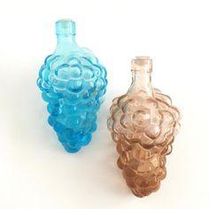 Glass Grape Bottles Vintage Cruets Blue Mauve Grape | Etsy Mauve, Fruit, Body Wash, Aqua Blue, Glass Bottles, Mini, Bubbles, Vintage, Desk