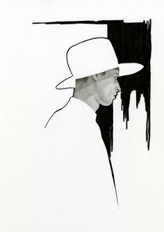 Dior Homme Hat 2011 Illustration by Richard Kilroy
