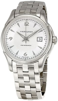 Men watches : Hamilton Men's H32515155 Jazzmaster Viewmatic Silver Dial Watch