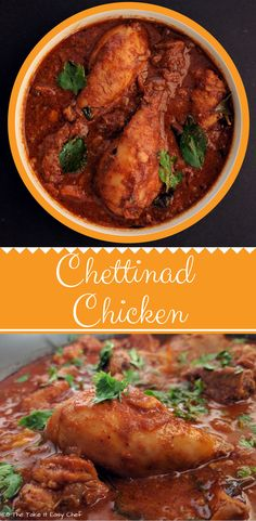 Chettinad Chicken Curry, from Chettinad region of the South Indian state Tamil Nadu, belongs to one of the most aromatic and spiciest cuisines of India. Indian Food Recipes, Ethnic Recipes, South Indian Chicken Recipes, South Indian Chicken Curry, Chicken Recipes Kerala Style, South Indian Foods, Kerala Recipes, Indian Curry, Chettinad Chicken