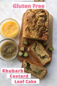 With only 6 ingredients you can make this soft moist and deliciously addictive gluten free rhubarb custard loaf cake. An easy recipe to use up all that delicious rhubarb that is in season right now and it's dairy free too.