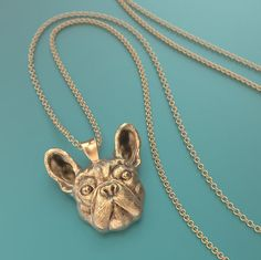 French Bulldog Breed Jewelry Face Pendant