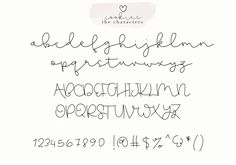 Gingerbread Cookies - A Script Font Duo example image 10 Cute Fonts Alphabet, Handwriting Alphabet, Hand Lettering Alphabet, Alphabet Art, Free Handwriting Fonts, Cute Cursive Font, Graffiti Alphabet, Creative Lettering, Lettering Styles