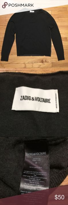 Zadig & Voltaire mens green sweater - sz medium Zadig & Voltaire mens green sweater - sz medium. Armpit to armpit - 19 inches. Length - 24 inches. Excellent condition. Zadig & Voltaire Sweaters Crew & Scoop Necks