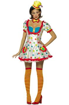 Clown Female Adult Costume for Halloween - $47.95 #circus