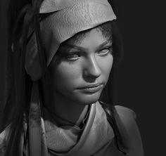 ArtStation - head scarf, Izabela Zelmańska