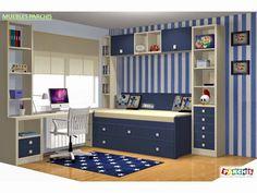 Dormitorios juveniles en Madrid  Habitaciones infantiles en Madrid  Muebles Juveniles en Madrid: Dormitorios Juveniles en 3D Proyectos hechos a med...