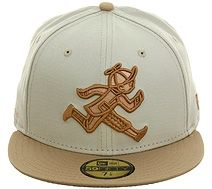 Play Cloths Running Jack New Era 5950 Fitted Hat - Stone, Brown