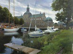 """""""VADSTENA"""", 90x116 cm, oil on canvas, artist Vladimir Volegov"""