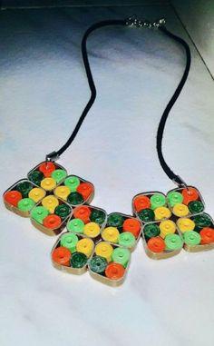 Colier multicolor quilling Crafty, Jewelry, Jewlery, Jewerly, Schmuck, Jewels, Jewelery, Fine Jewelry, Jewel