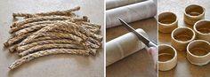 Passo a passo superfácil para montar um porta-guardanapo rústico para deixar sua mesa de refeições ainda mais charmosa.