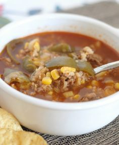 Slow Cooker Stuffed Pepper Soup - Mommy Hates Cooking