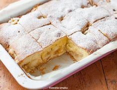 Puszysty jabłecznik | Kwestia Smaku Polish Desserts, Polish Recipes, Holiday Desserts, No Bake Desserts, Baking Recipes, Cake Recipes, Lime Cake, Raspberry Cheesecake, Pie Dessert