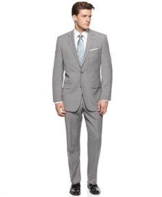 Calvin Klein Suit, Grey Sheen Slim Fit - Mens Suits & Suit