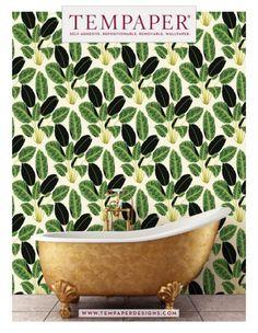 BRASS BELLY Old World Brass Metallic - GENEVIEVE GORDER - SHOP - Tempaper Designs