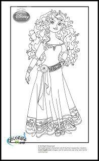 disney princess merida brave coloring pages {EDL}