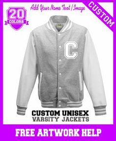 customised girls Letterman varsity jacket - custom printed