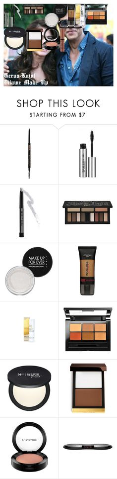 """""""Gera Kajol Dilawe Make Up"""" by oroartye-1 on Polyvore featuring beauty, Anastasia Beverly Hills, Marc Jacobs, Kat Von D, MAKE UP FOR EVER, L'Oréal Paris, This Works, Maybelline, Tom Ford and MAC Cosmetics"""