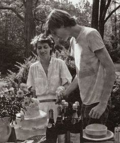 Kim Gordon and Thurston Moore in happier times, at their Connecticut wedding in 1984.