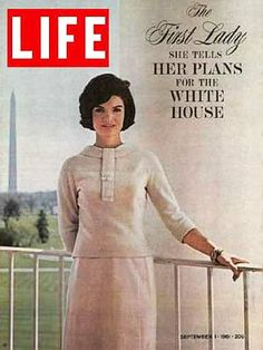 Sept 1961: Jackie Kennedy, of course, was involved with a lot more than the Twist, as featured here in a Life magazine cover story on her plans for a major restoration of the White House, the results of which were the subject of a nationally-broadcast TV special with her in the starring role.