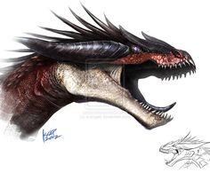 Imaginasaurus dragon sketch by *scarypet on deviantART
