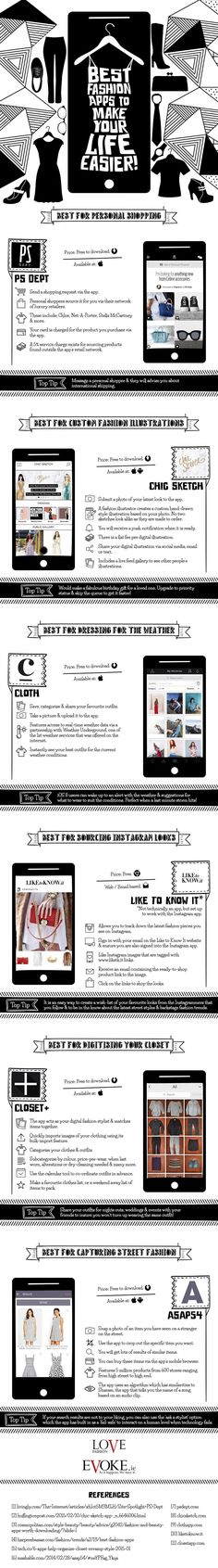 Best Fashion Apps to Make Your Life Easier #Infographic #Apps #Fashion