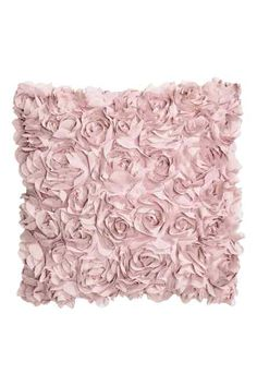 Satin cushion cover: Satin cushion cover with decorative chiffon flowers and a concealed zip. Pink Pillows, Cute Pillows, Baby Pillows, Rose Gold Rooms, Rose Gold Decor, Gold Bedroom, Bedroom Decor, Pink Bedrooms, Flower Lights