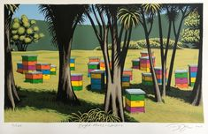 Check out the deal on Bright Hives - Waipiro by Tony Ogle at New Zealand Fine Prints New Zealand Art, Screen Printer, New Print, Print Store, Printmaking, Vibrant, Bright, Fine Art, Art Prints