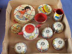 1930s- 1940s Ohio Art Child's Tea Set with Box