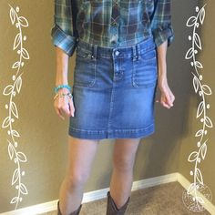 WHBM Mini Jean Skirt HP Excellent condition!  Distressed look.  15 inches long.  About 17 1/2 inches across hip area.  Waist lying flat 15 1/2 inches.It Girl Party Host Pick 1-17-16 chosen by Maira @jays_boutique_ Please shop her beautiful closet! White House Black Market Skirts Mini