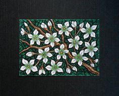 White Cherry Blossom ACEO Original Art Card