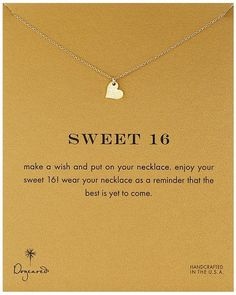 Dogeared Sweet 16 Sparkle Heart Necklace (16th birthday gifts for girls)