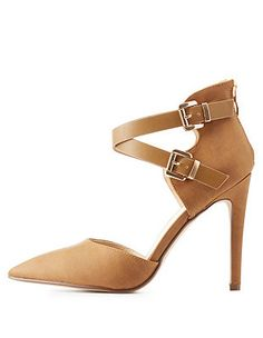 48f2000d7468 Ankle Strap Two-Piece Pumps  Charlotte Russe