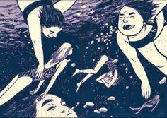 From: THIS ONE SUMMER byJillian Tamaki and Mariko Tamaki.