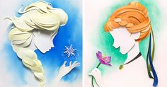 Artist Makes Disney Characters From Layers Of Paper | Bored Panda