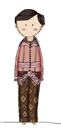 Widi wearing kebaya