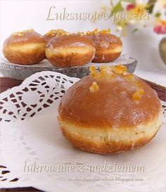 Polish Desserts, Polish Recipes, Polish Food, Eastern European Recipes, Churros, Holiday Baking, Doughnuts, Cake Recipes, Muffins