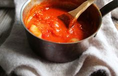 NYT Cooking: Marcella Hazan's Tomato Sauce. This sounds too simple, yet it's SO good. One of the best sauces I've tasted.