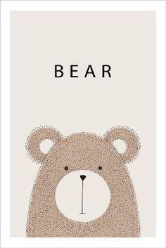 Kids Room Art, Art For Kids, Bear Face Paint, Quiet Book Templates, Photoshop Logo, Tree Artwork, Bear Art, Watercolor Animals, Pottery Studio
