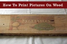 You'll love this. No artistic talent needed, no real skills. Just wax paper and a printer! Well, there's a little more to it than that, but not much. Here you'll learn to print just about any image and transfer it to any smooth, wood surface. Got a favorite photo? Or maybe an image off the …