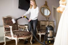 Upholstery Steaming on the Chair to completely disinfect and remove bed bug problem.  Book an onsite demonstration with Duplex by visiting duplexcleaning.com.au