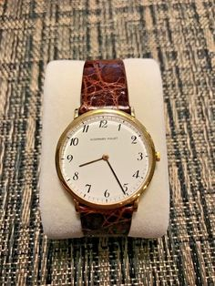 All the words on dial: Audemars Piguet Geneve. All words on case and case back: Audemars Piguet Swiss 750 Total Watch weight: grams. Audemars Piguet, Gold Watch, Solid Gold, Vintage Dresses, Watches, Inspirational, Accessories, Vintage Gowns, Clocks