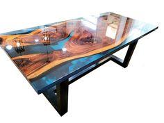 Epoxy Wood Table, Wood Resin, Live Edge Table, Live Edge Wood, Wood Slab, Walnut Wood, Custom Furniture, Wood Furniture, Metal Table Legs