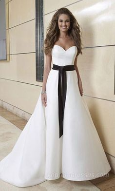 wedding dress wedding dress wedding dress wedding dress love how plain this is minus the black sash!